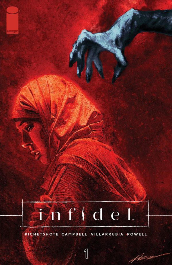Infidel #1 cover by Aaron Campbell and Jose Villarrubia