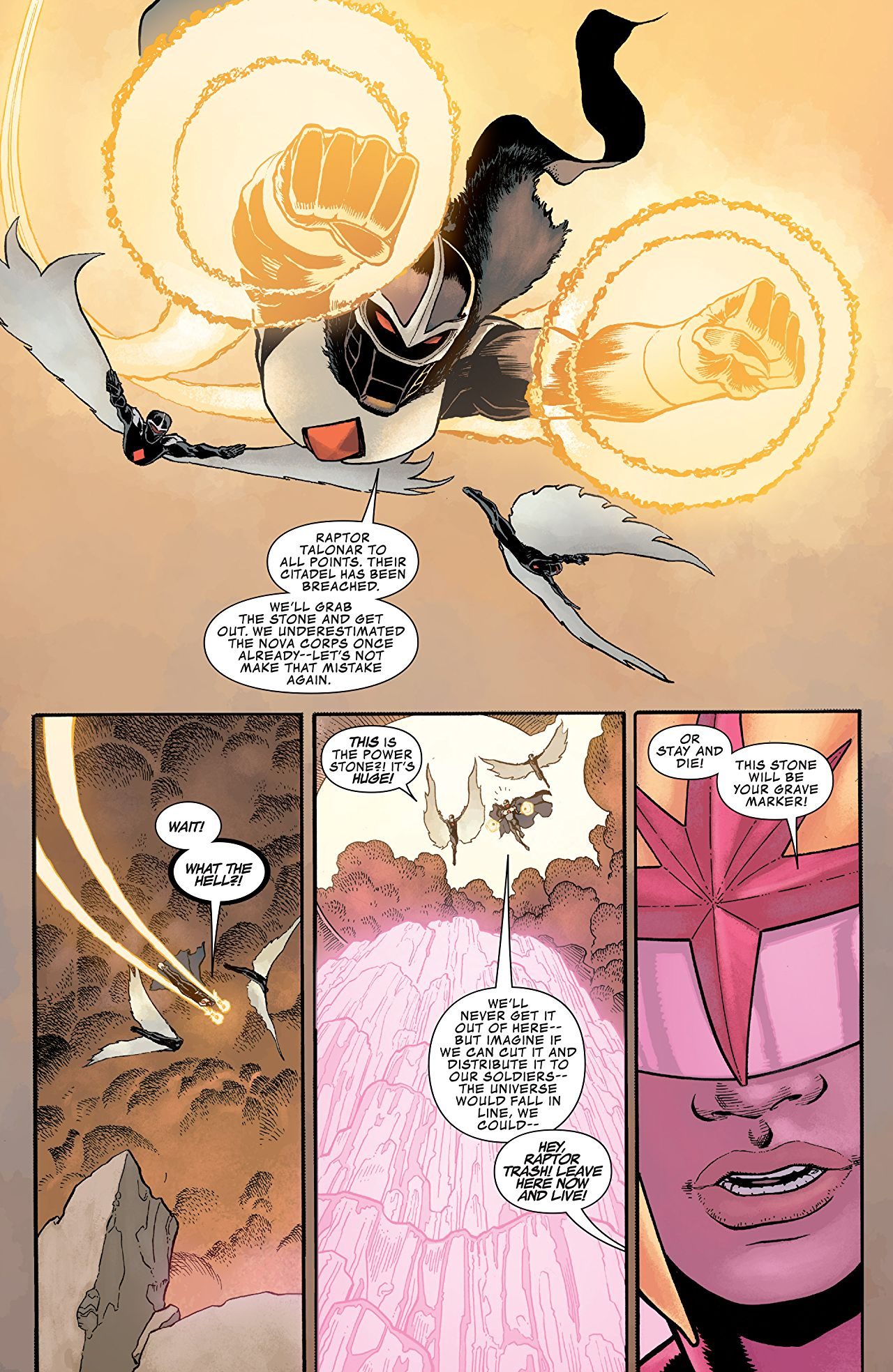 Infinity Countdown #1 art by Aaron Kuder and Jordie Bellaire