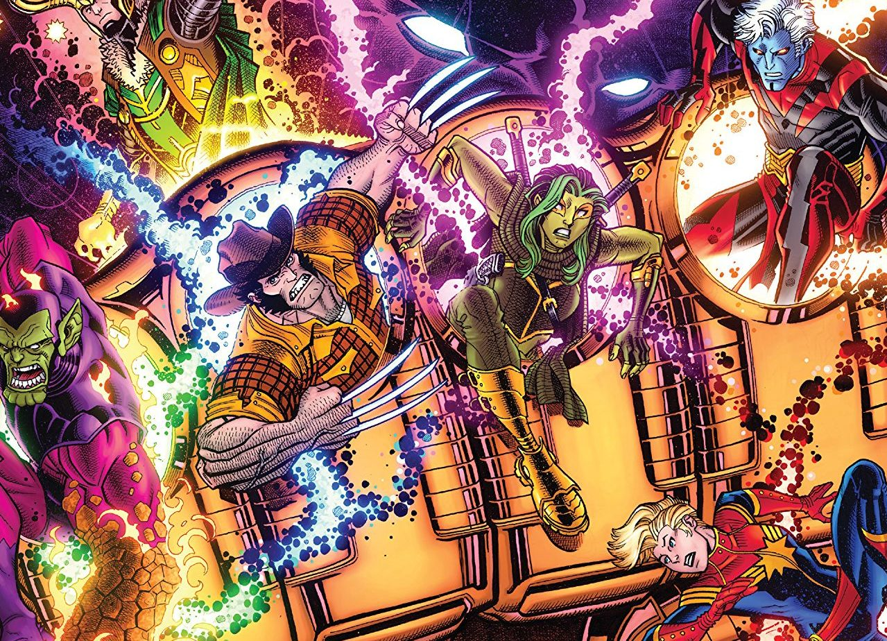 Infinity Countdown #1 cover by Nick Bradshaw and Morry Hollowell