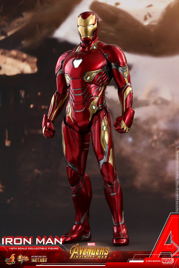 iron man mark 50 diecast from infinity war coming from hot toys
