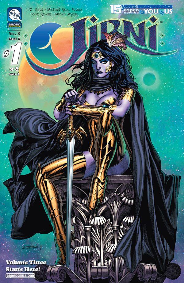 Jirni Vol. 3 #1 cover by Michael Santamaria and John Starr