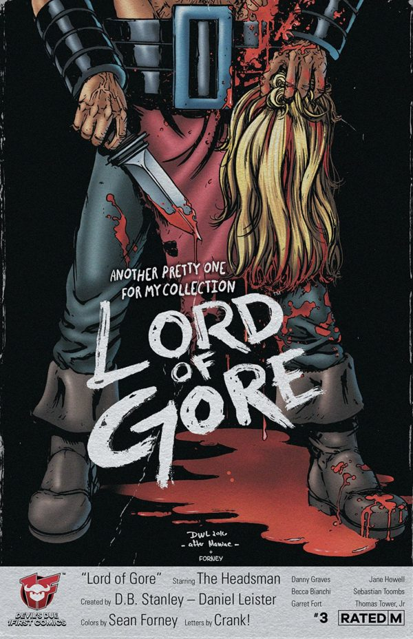 Lord of Gore #3 cover by Daniel Leister