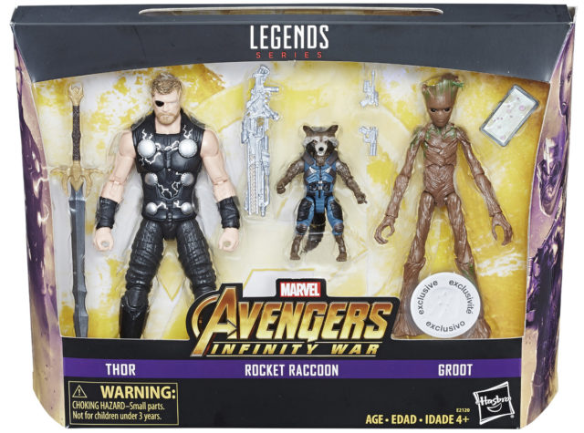 Marvel Legends Infinity War Three Pack TRU