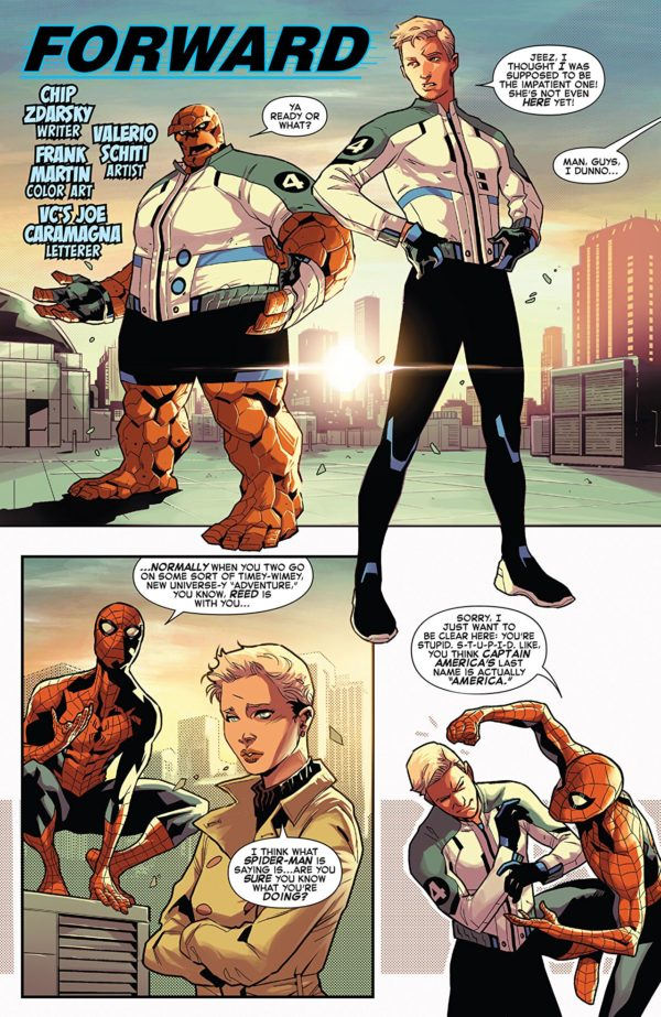 Marvel Two-in-One #4 art by Valerio Schiti and Frank Martin