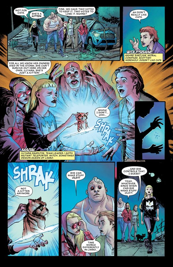 New Mutants: Dead Souls #1 art by Adam Gorham and Michael Garland