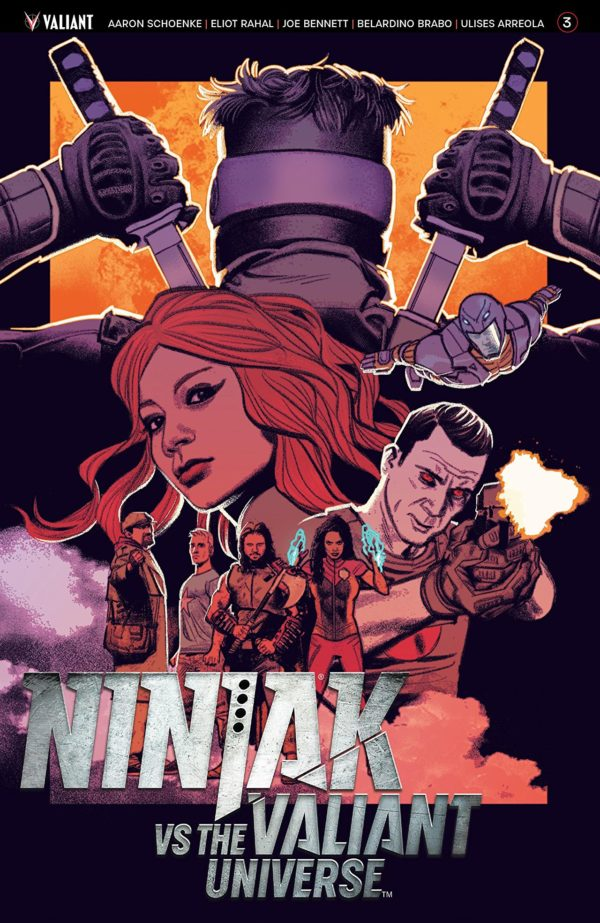 Ninjak vs the Valiant Universe #3 cover by Greg Smallwood
