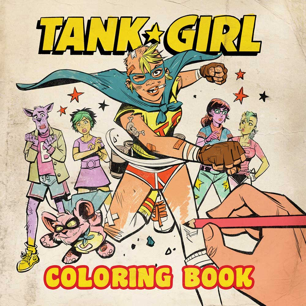 go over the lines with jamie hewletts tank girl coloring book - Girl Coloring Book
