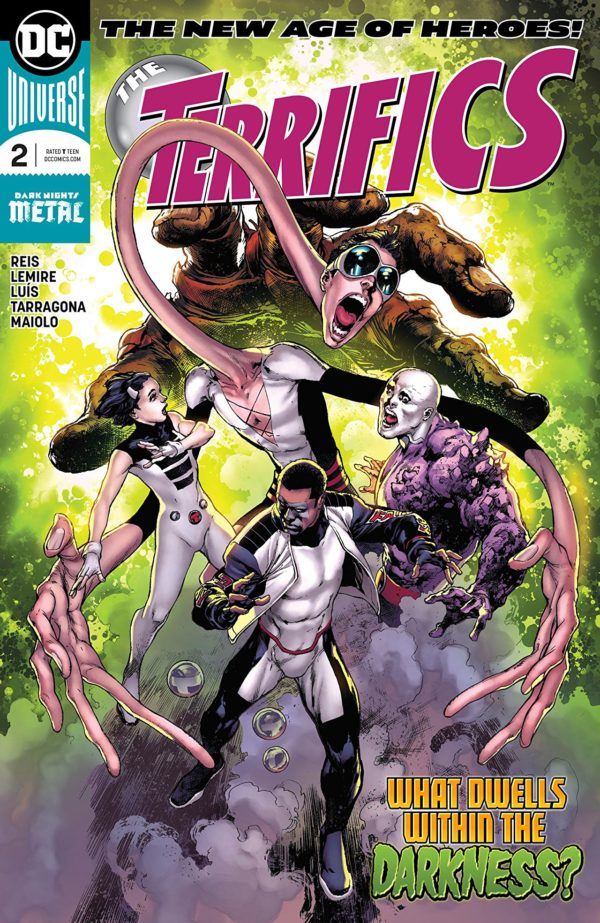 Terrifics #2 cover by Ivan Reis and Marcelo Maiolo
