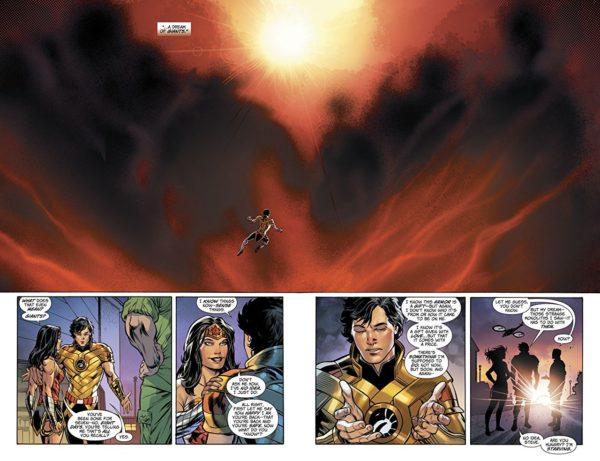 Wonder Woman #42 art by Jesus Merino and Romulo Fajardo Jr.