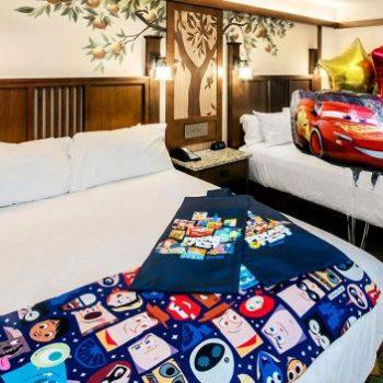 pixar fest hotel room disneyland