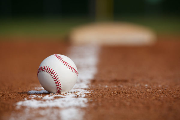 Baseball on Chalk Line -- David Lee/Shutterstock.com
