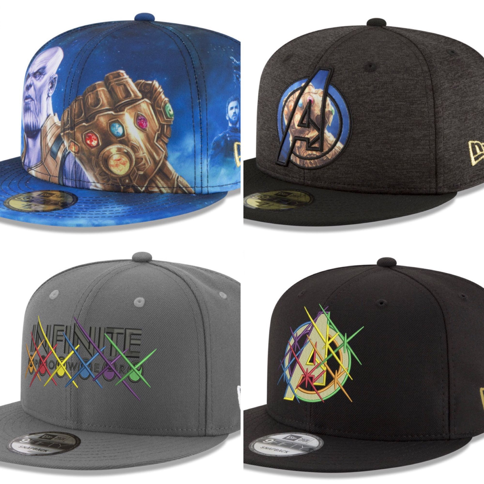timeless design e1295 739b1 6 Avengers  Infinity War Hats from New Era and Lids in New Collection