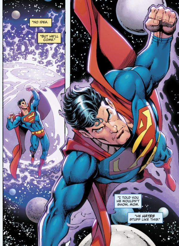 a look inside superman red trunks in today s action comics 1000