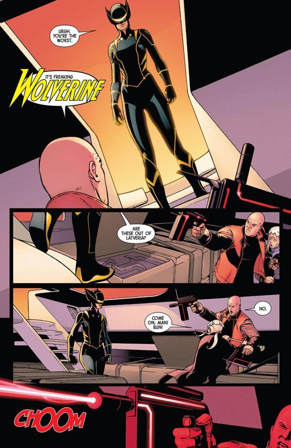 All-New Wolverine #33 art by Ramon Rosanas and Nolan Woodard