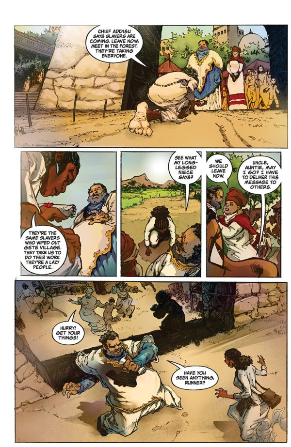 Antar: The Black Knight #1 art by Eric Battle and Jason Scott Jones