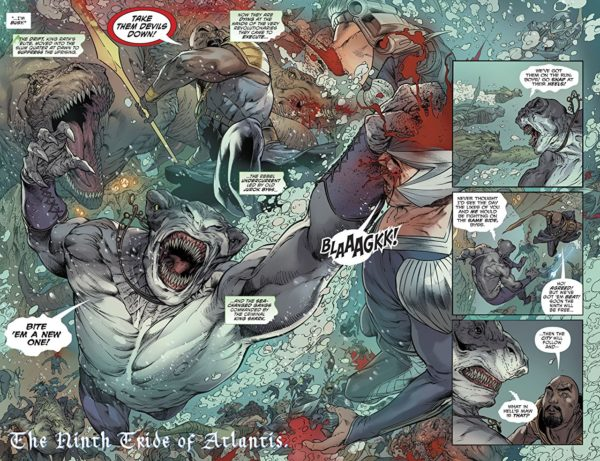 Aquaman #35 art by Robson Rocha, Daniel Henriques, Danny Miki, and Sunny Gho