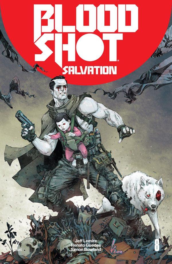Bloodshot Salvation #8 cover Kenneth Rocafort