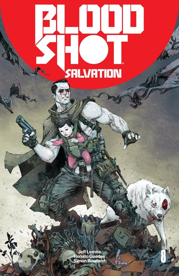 Bloodshot Salvation #8 cover Kenneth Rocafort