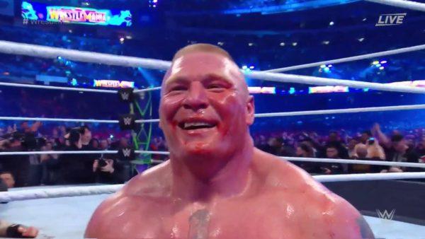 Brock Lesnar Happy wrestlemania