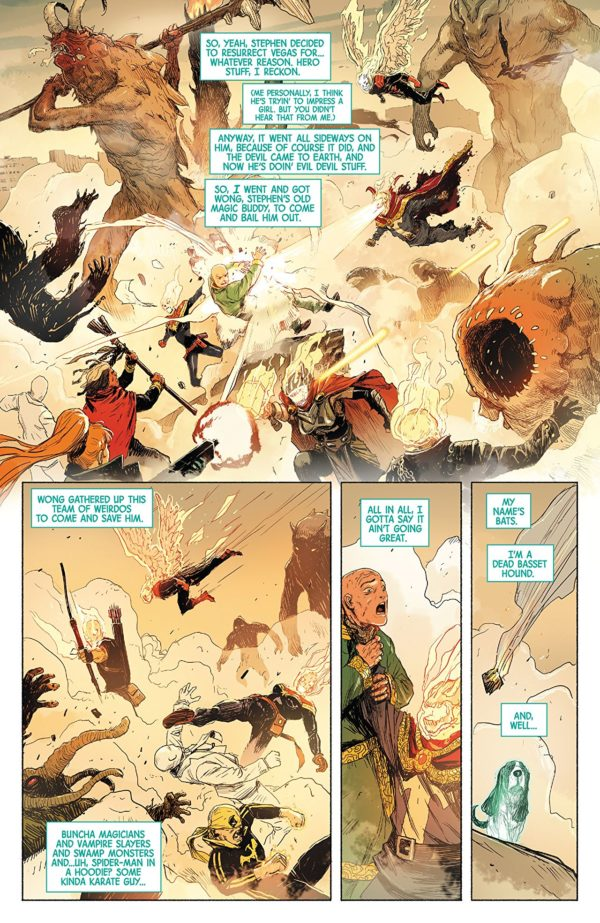 Doctor Strange #388 art by Niko Henrichon and Laurent Grossat