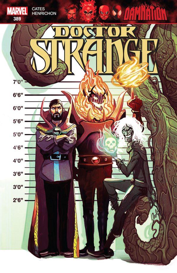 Doctor Strange #389 cover by Mike del Mundo