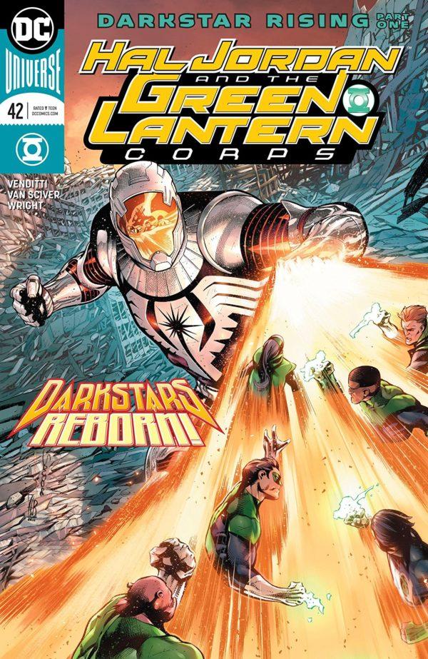 Hal Jordan and the Green Lantern Corps #42 cover by Rafa Sandoval, Jordi Tarragona, and Tomeu Morey