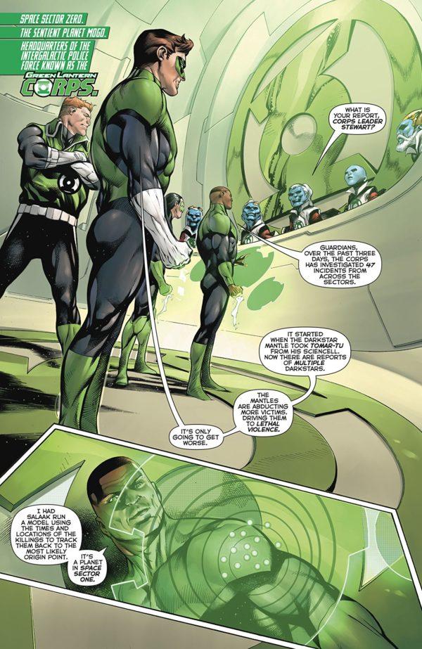 Hal Jordan and the Green Lantern Corps #43 art by Rafa Sandoval, Jordi Tarragona, and Tomeu Morey