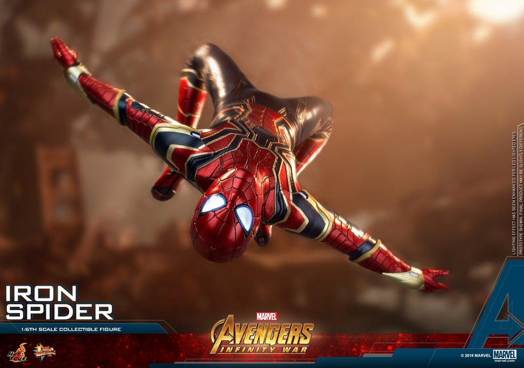 Hot Toys 1//6 MMS482 Avengers Infinity War Iron Spider Peter Parker Head Sculpt