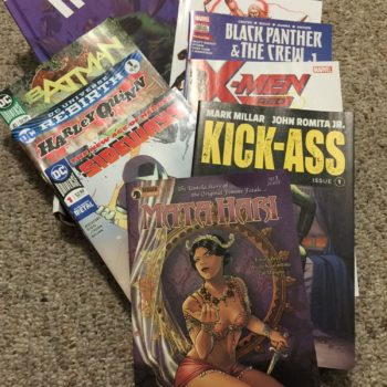 comic stacks selection of comics