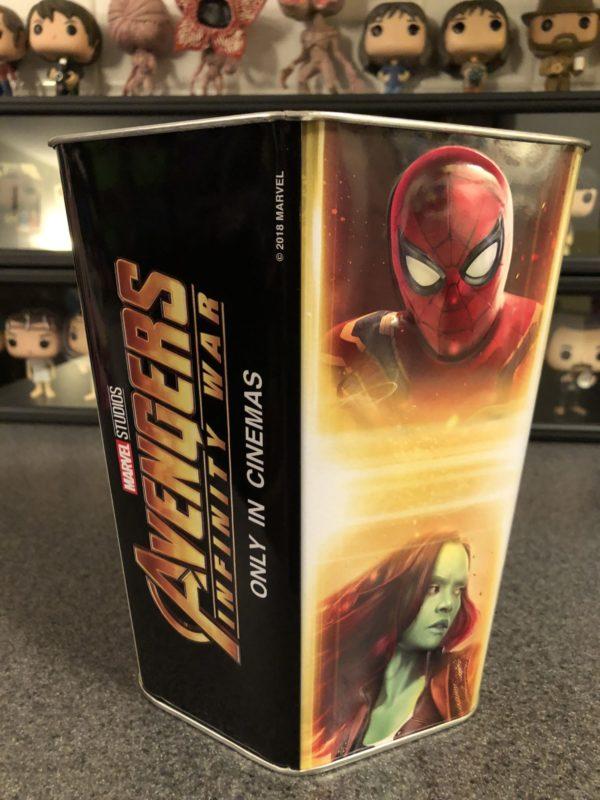 Avengers: Infinity War Cinemark Popcorn Tin 1