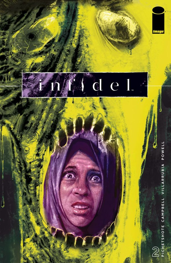Infidel #2 cover by Aaron Campbell and Jose Villarrubia