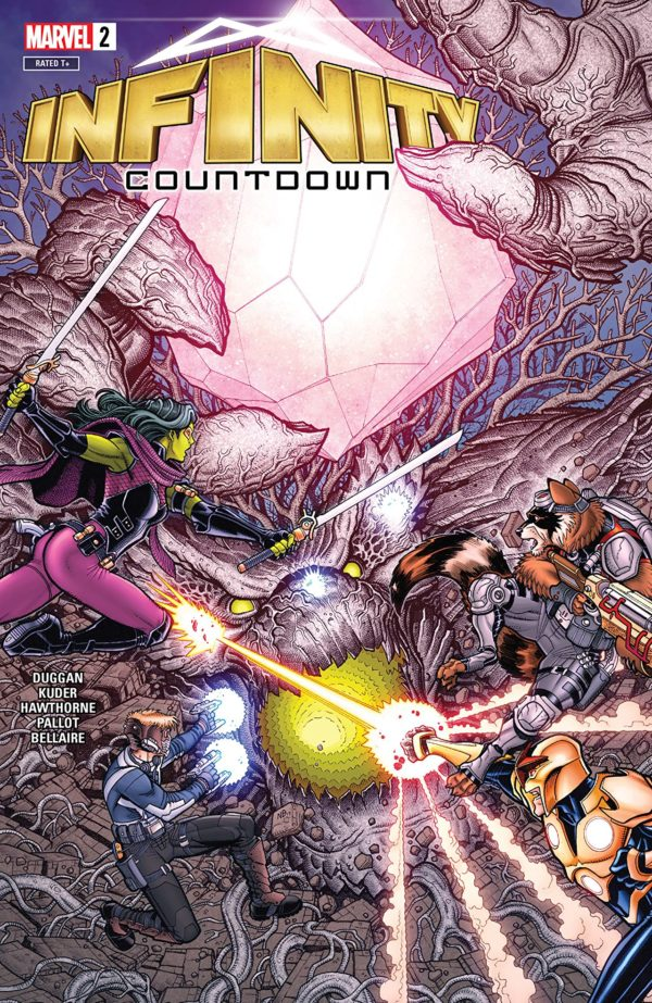 Infinity Countdown #2 cover by Nick Bradshaw and Morry Hollowell