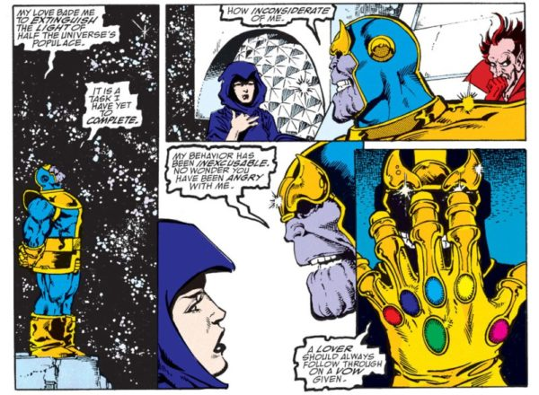 marvel comics thanos death