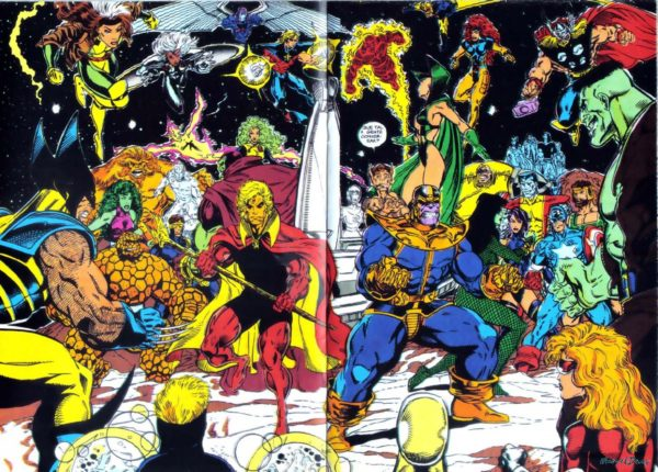 Infinity War art by Ron Lim, Al Milgrom, and Ian Laughlin