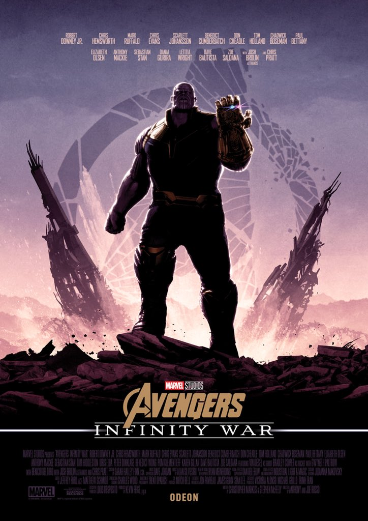 infinity war gets 5 connected posters exclusively for odeon cinemas