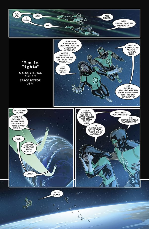 Justice League #42 art by Pete Woods