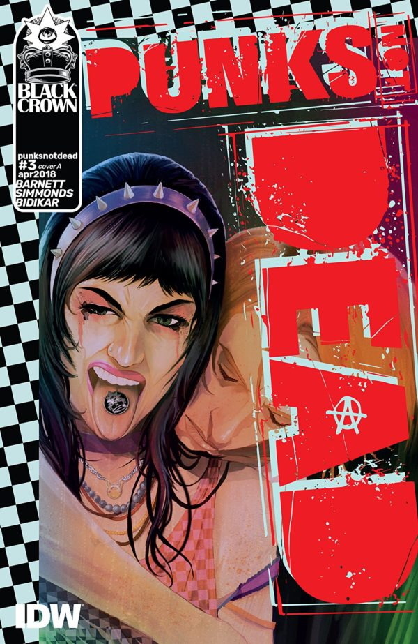 Punk's Not Dead #3 cover by Martin Simmonds