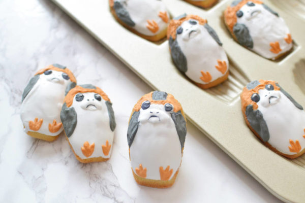 porg madeleine cookies