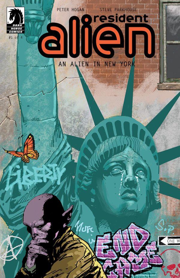 Resident Alien: An Alien in New York #1 cover by Steve Parkhouse