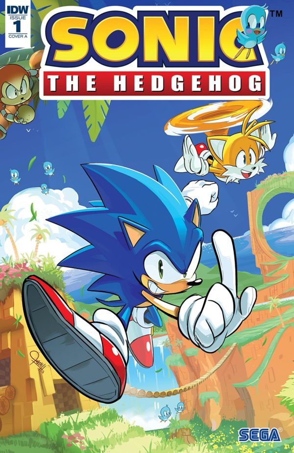 Sonic the Hedgehog #1 cover by Tracy Yardley