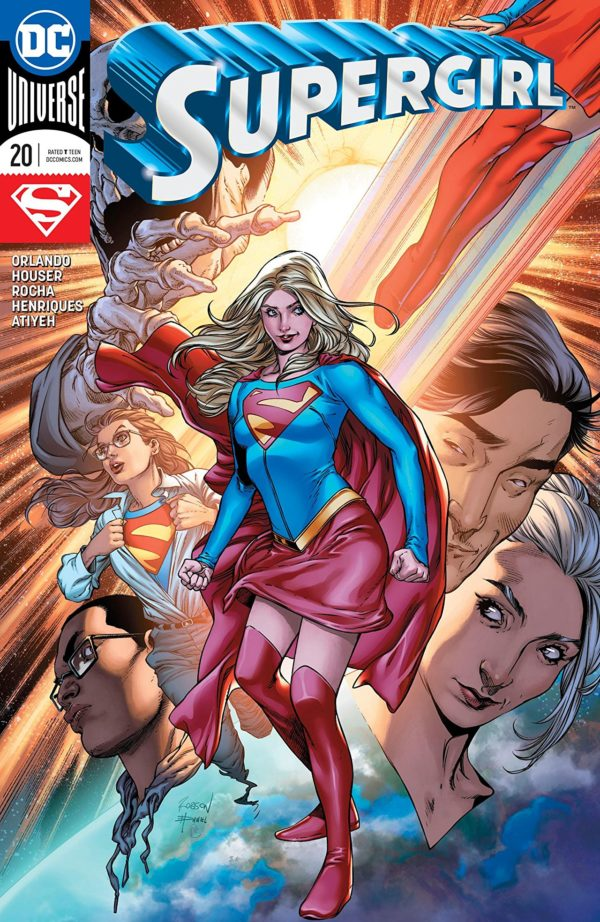 Supergirl #20 cover by Robson Rocha, Daniel Henriques, and Robson Rocha