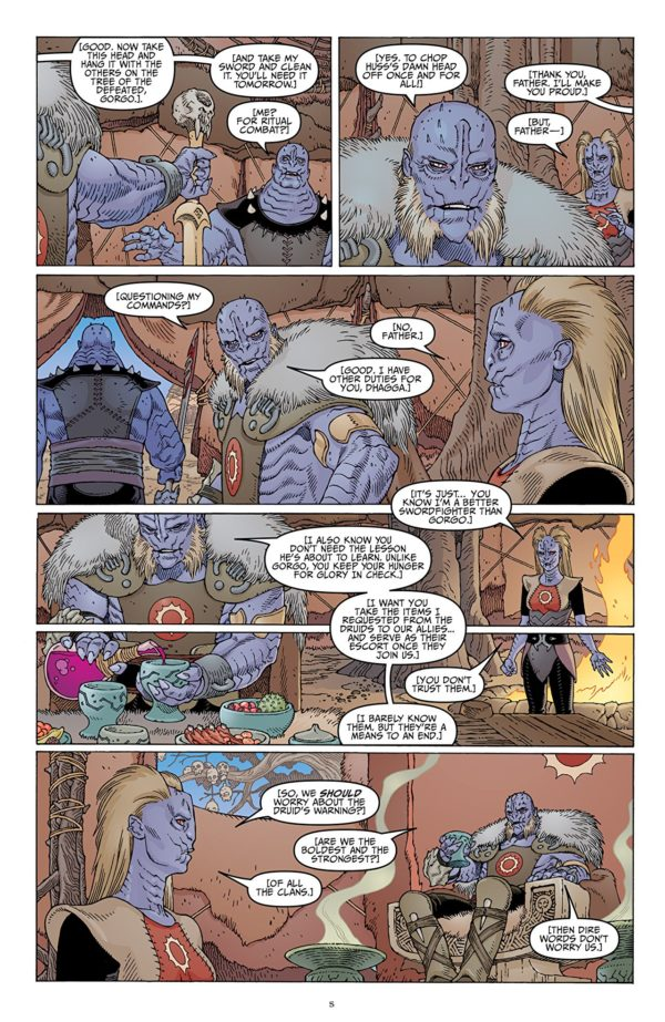 Sword of Ages #3 art by Gabriel Rodriguez and Lovern Kindzierski