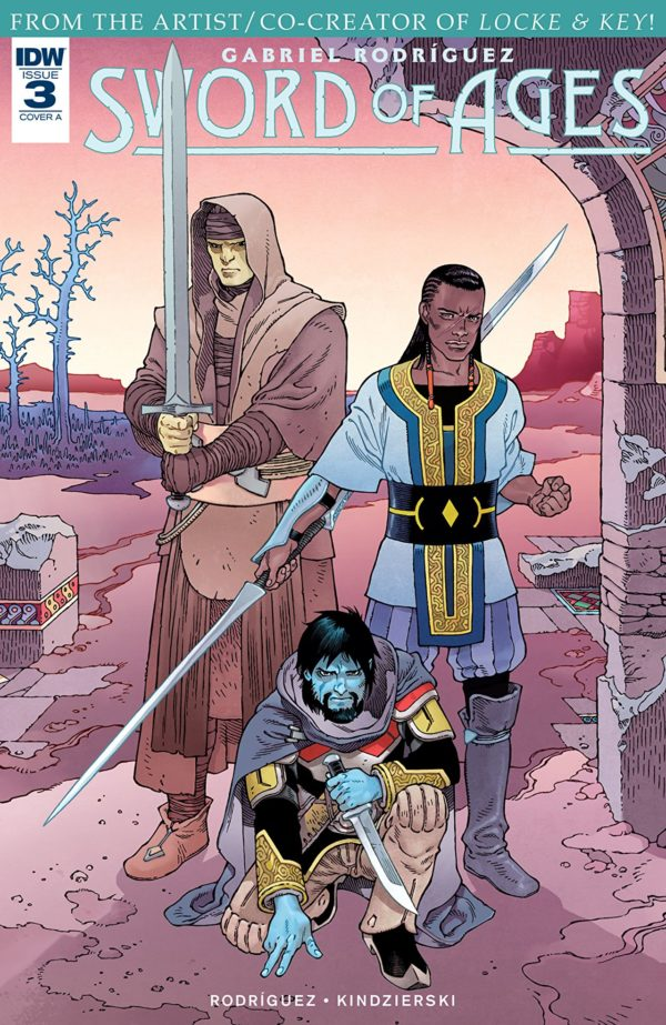 Sword of Ages #3 cover by Gabriel Rodriguez and Lovern Kindzierski