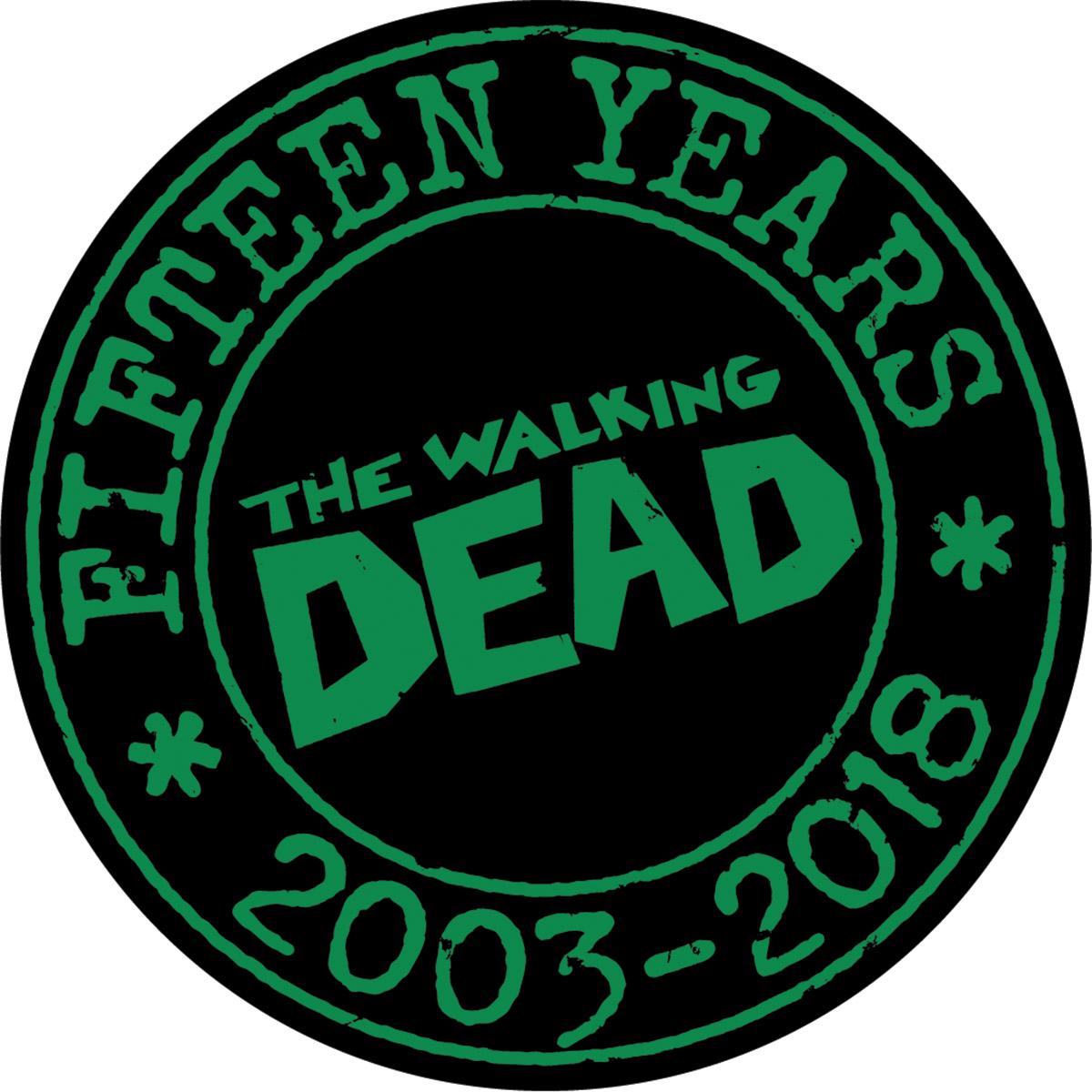 The Walking Dead 15th Anniversary Pin