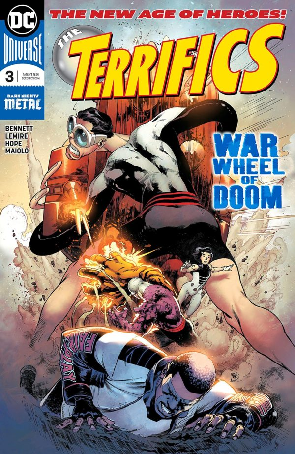 Terrifics #3 cover by Ivan Reis and Marcelo Maiolo