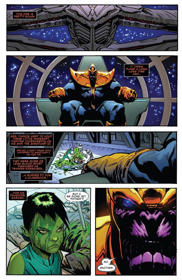 Thanos Annual #1 art by Geoff Shaw and Antonio Fabela