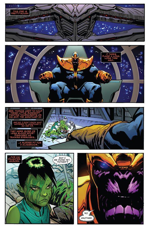 Thanos Annual #1 art by Geoff Shaw and Antonio Fabela