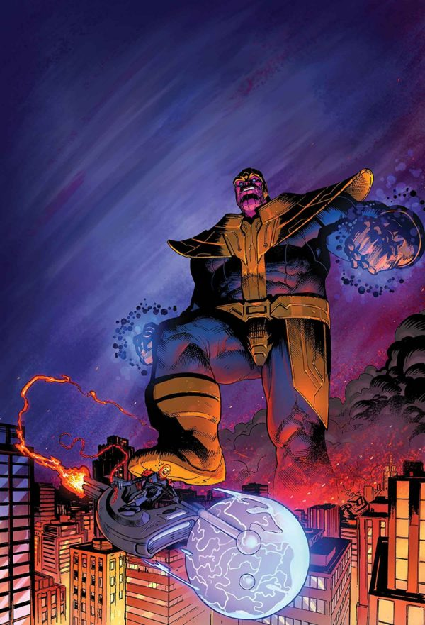 Thanos Annual #1 cover by Geoff Shaw and Antonio Fabela