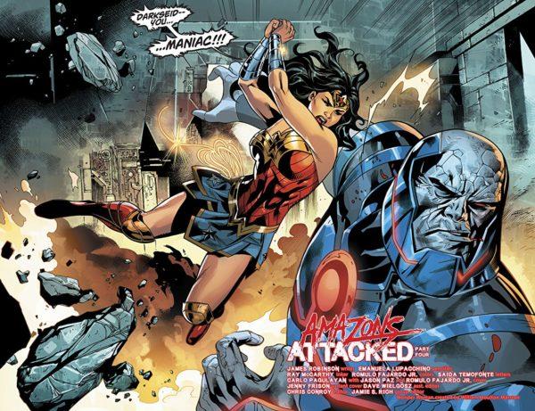 Wonder Woman #44 art by Emanuela Lupacchino, Ray McCarthy, and Romulo Fajardo Jr.