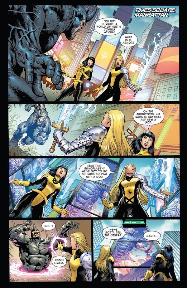 X-Men: Gold #25 art by Paulo Siqueira, Jose Luis, Cam Smith, Victor Olazaba, Arif Prianto, Java Tartaglia, and Juan Fernandez